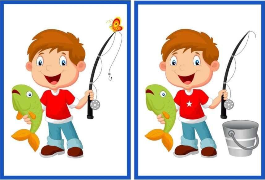 игры на развитие воображения для детей 4-5 лет - найди отличия