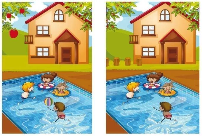 игры на развитие памятидля детей 4 - 6 лет - найди отличия