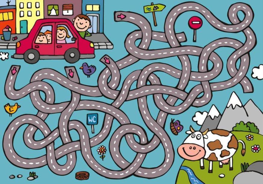 игры на развитие памяти детям от 4 до 6 лет - лабиринт