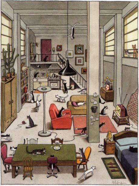 тесты на внимание у взрослых - сколько котов