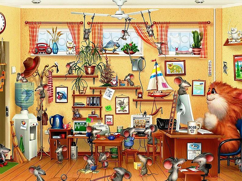 тесты на внимание у взрослых -сколько мышей