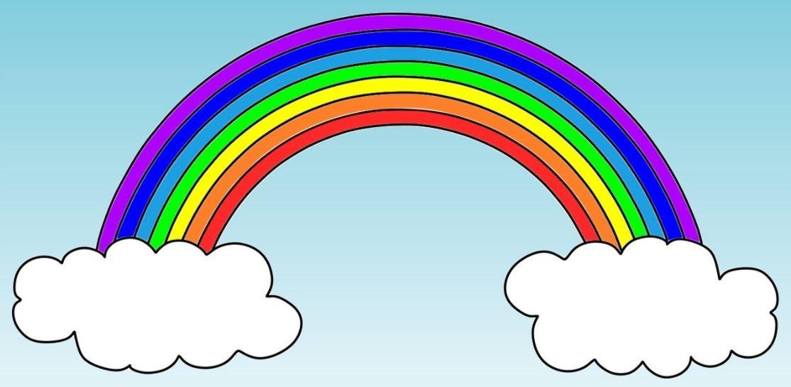 Мнемотехника для детей - цвета радуги