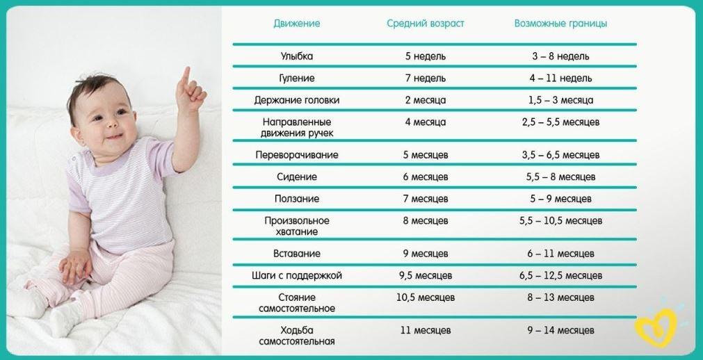Развитие с рождения до года - шпаргалка